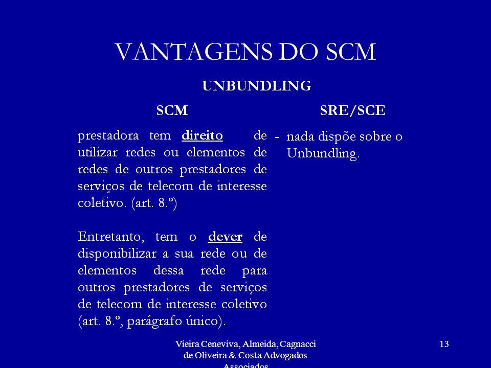 Vieira Ceneviva, Almeida, Cagnacci de Oliveira & Costa Advogados Associados 13 VANTAGENS DO SCM