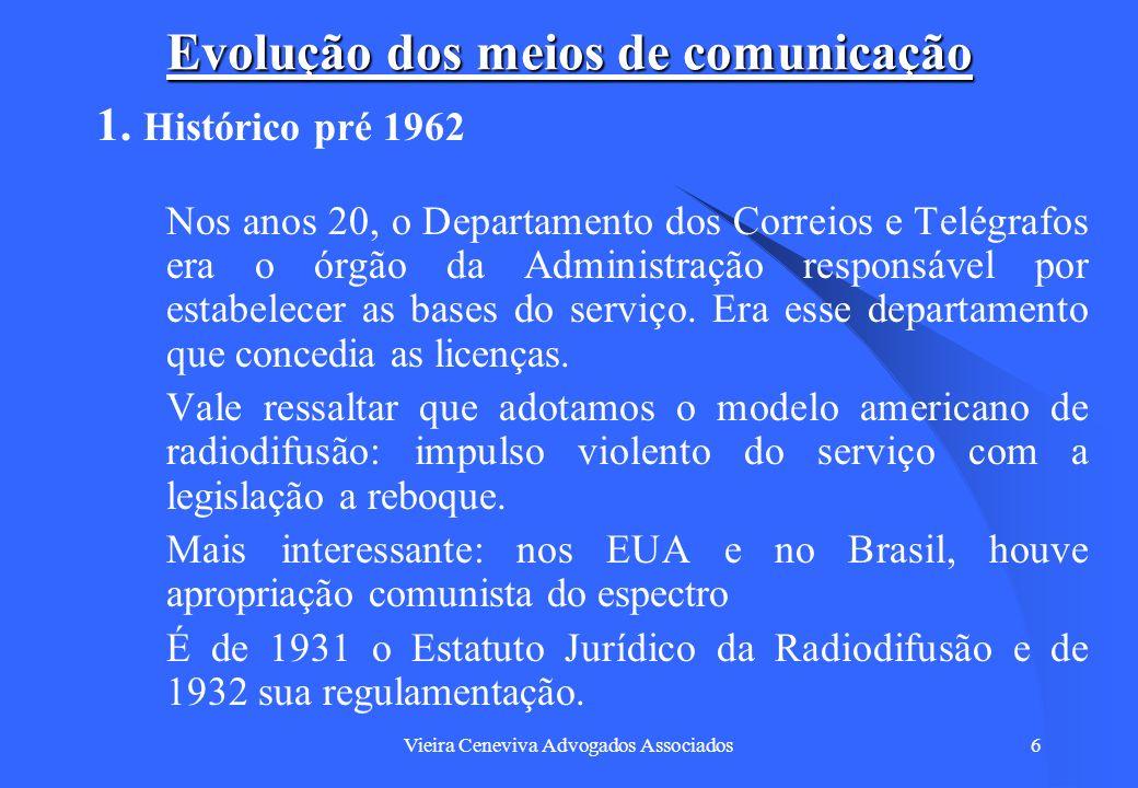 Vieira Ceneviva Advogados Associados47 Convergência Tecnológica The technology to supply almost limitless bandwidth is now at hand.