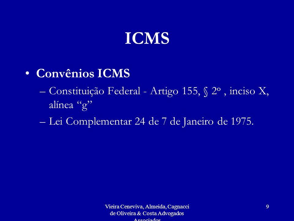 Vieira Ceneviva, Almeida, Cagnacci de Oliveira & Costa Advogados Associados 20 ISS Incidência sobre receitas das operadoras decorrentes de co-billing