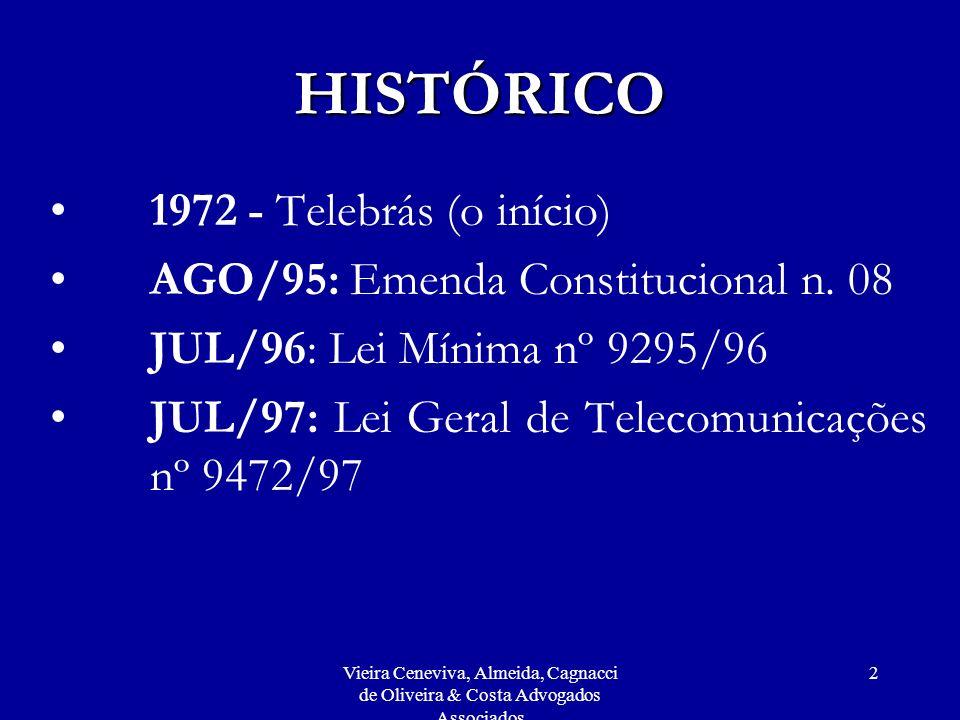 Vieira Ceneviva, Almeida, Cagnacci de Oliveira & Costa Advogados Associados 123 REGIMENTO INTERNO DA AGÊNCIA NACIONAL DE TELECOMUNICAÇÕES (Resolução nº 270, de 19/07/2001) FÓRUNS DE DECISÃO Art.