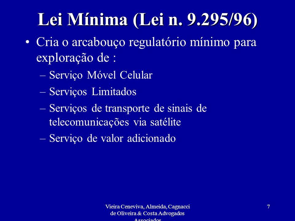 Vieira Ceneviva, Almeida, Cagnacci de Oliveira & Costa Advogados Associados 48 Regulamento da Agência Nacional de Telecomunicações Além do estabelecido no Art.