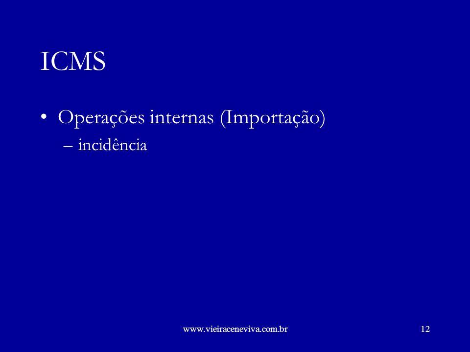 www.vieiraceneviva.com.br11 ICMS Importação e exportação de serviços de telecomunicações –critérios para definição