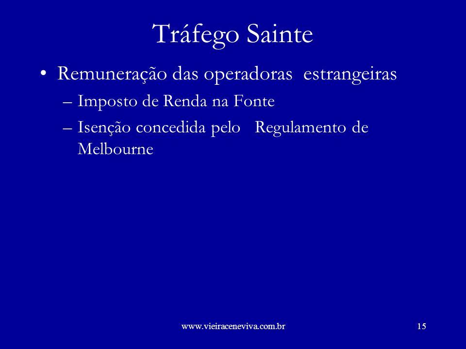 www.vieiraceneviva.com.br14 IMPOSTO DE RENDA –Tráfego sainte –Tráfego entrante