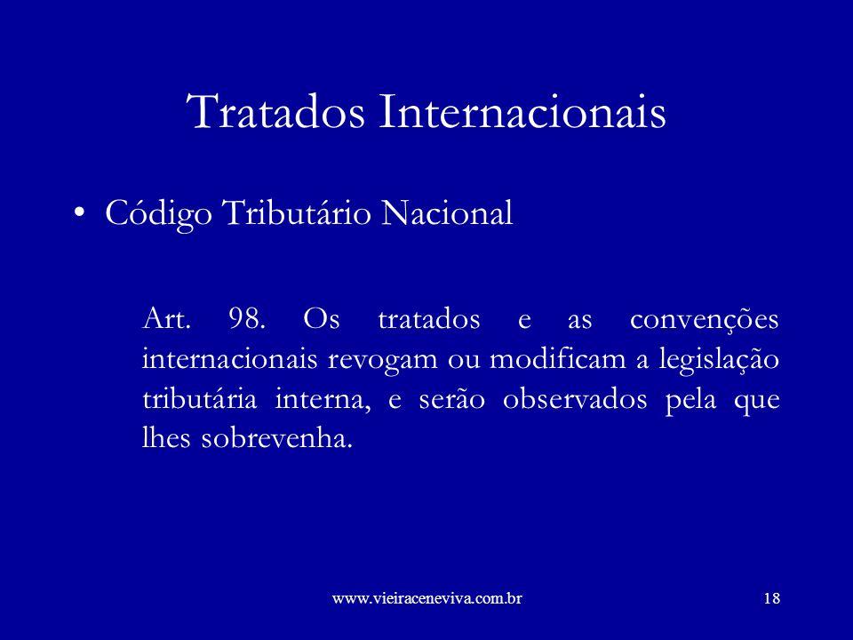 www.vieiraceneviva.com.br17 Tratados Internacionais Constituição Federal Art.