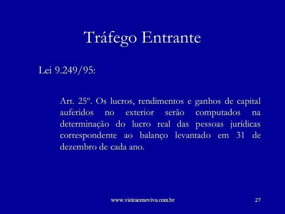 www.vieiraceneviva.com.br26 Tráfego Entrante Lei nº 4.506, de 1964.
