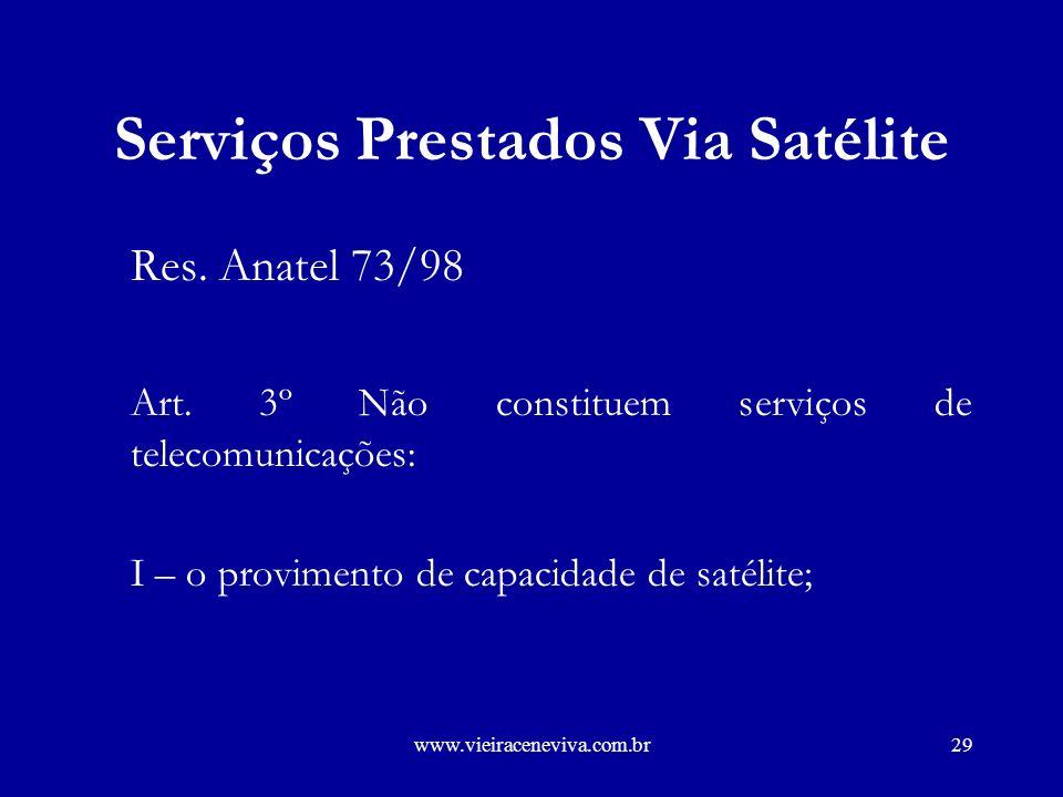 www.vieiraceneviva.com.br28 Serviços Prestados Via Satélite.