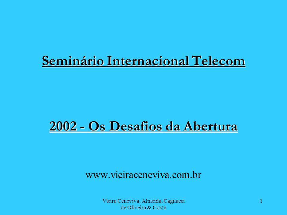 Vieira Ceneviva, Almeida, Cagnacci de Oliveira & Costa 1 Seminário Internacional Telecom 2002 - Os Desafios da Abertura www.vieiraceneviva.com.br