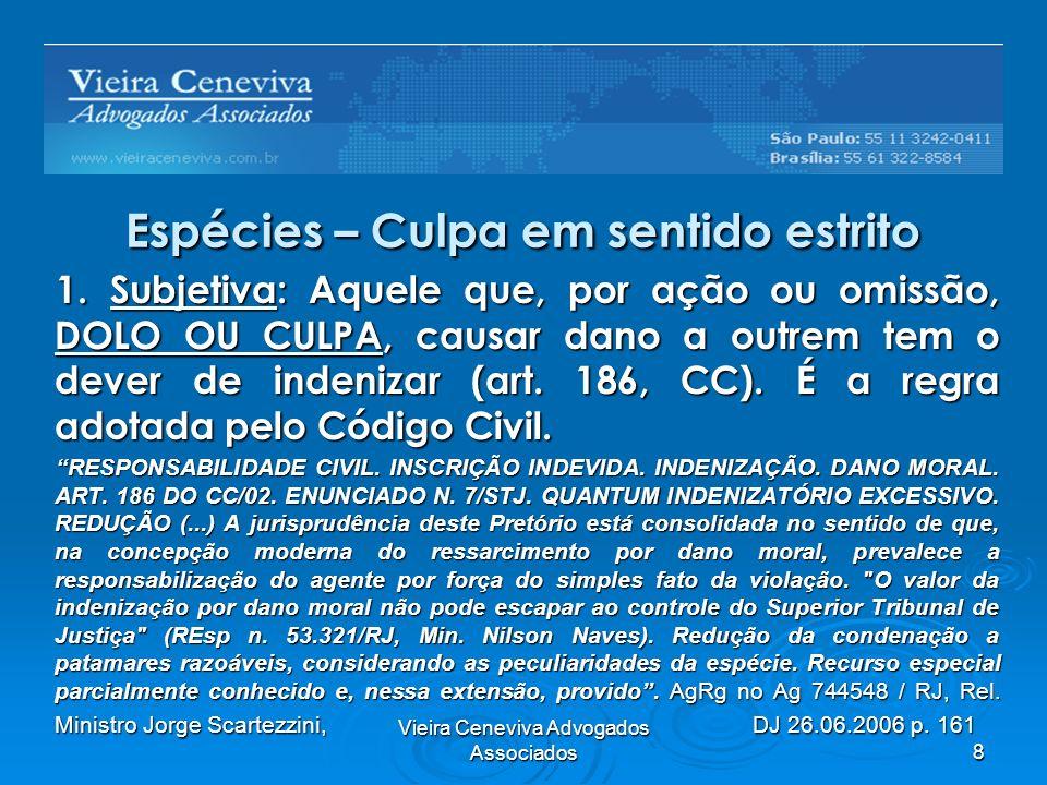 Vieira Ceneviva Advogados Associados9 Espécies – Culpa em sentido estrito 1.