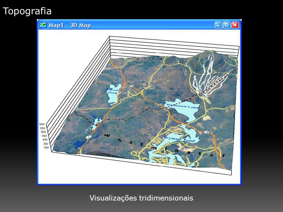 Topografia Visualizações tridimensionais
