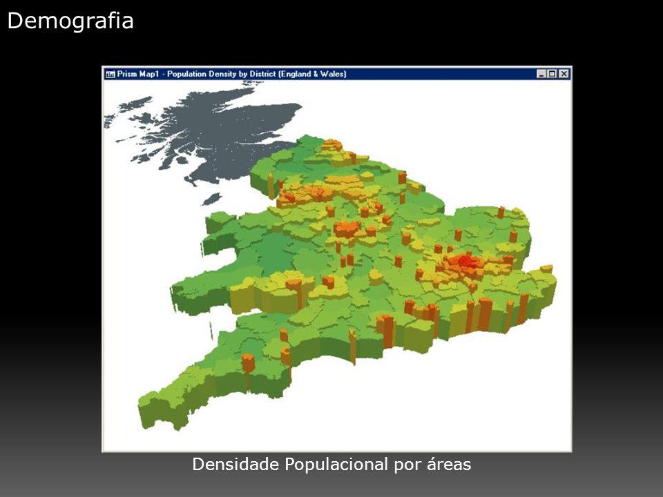 Demografia Densidade Populacional por áreas