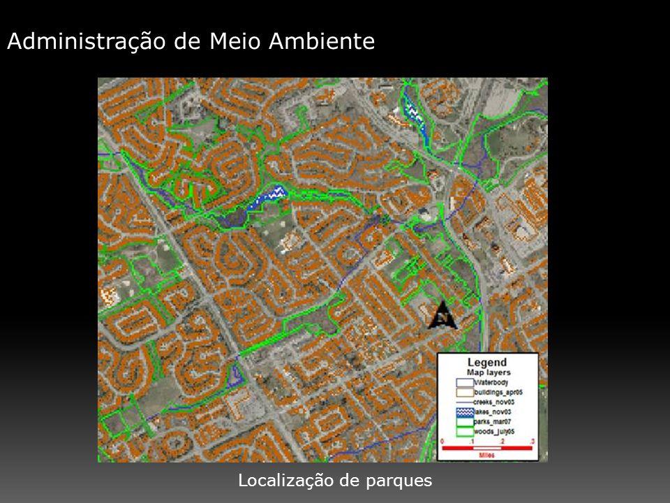 Administração de Meio Ambiente Localização de parques