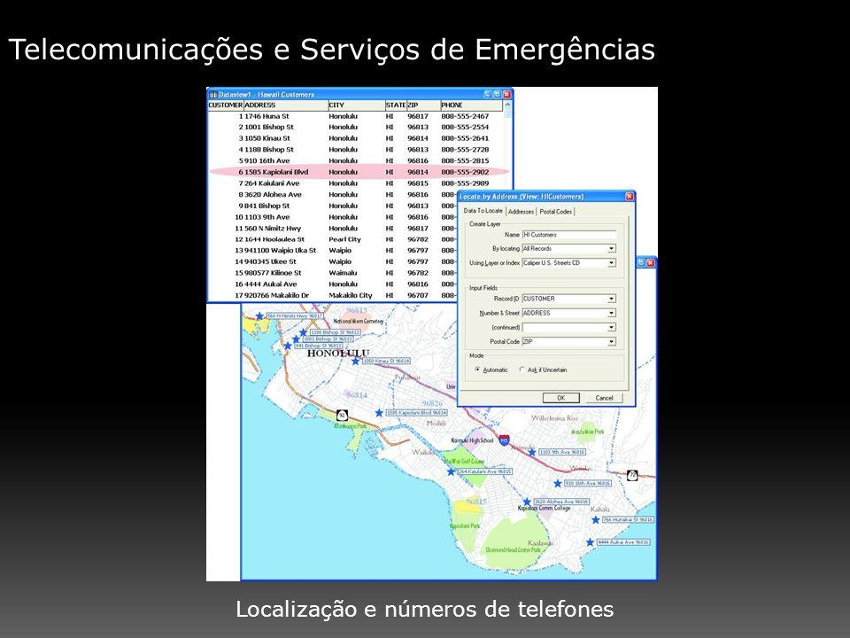 Telecomunicações e Serviços de Emergências Localização e números de telefones