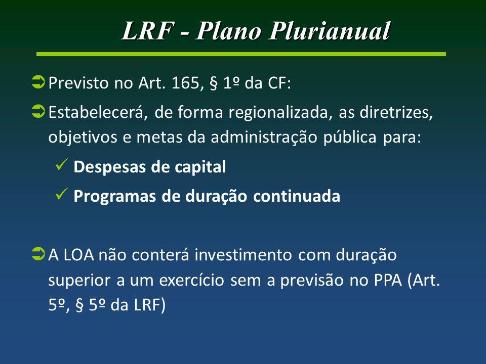 LRF - Plano Plurianual Previsto no Art.
