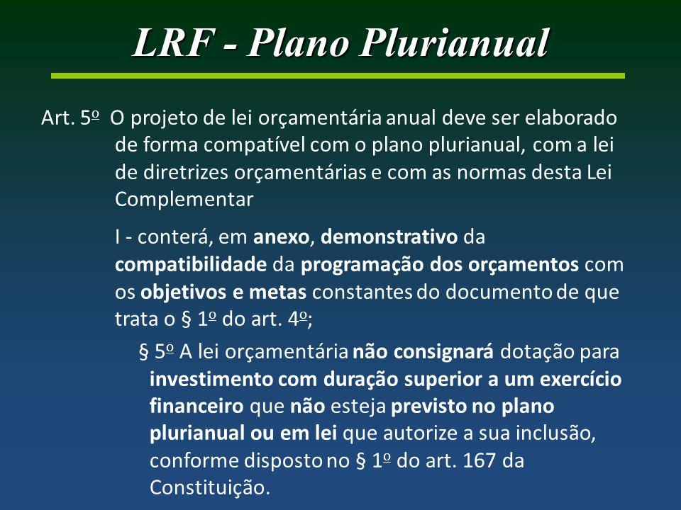 LRF - Plano Plurianual Art.
