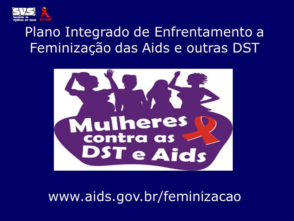 Plano Integrado de Enfrentamento a Feminização das Aids e outras DST Secretaria de Vigilância em Saúde www.aids.gov.br/feminizacao