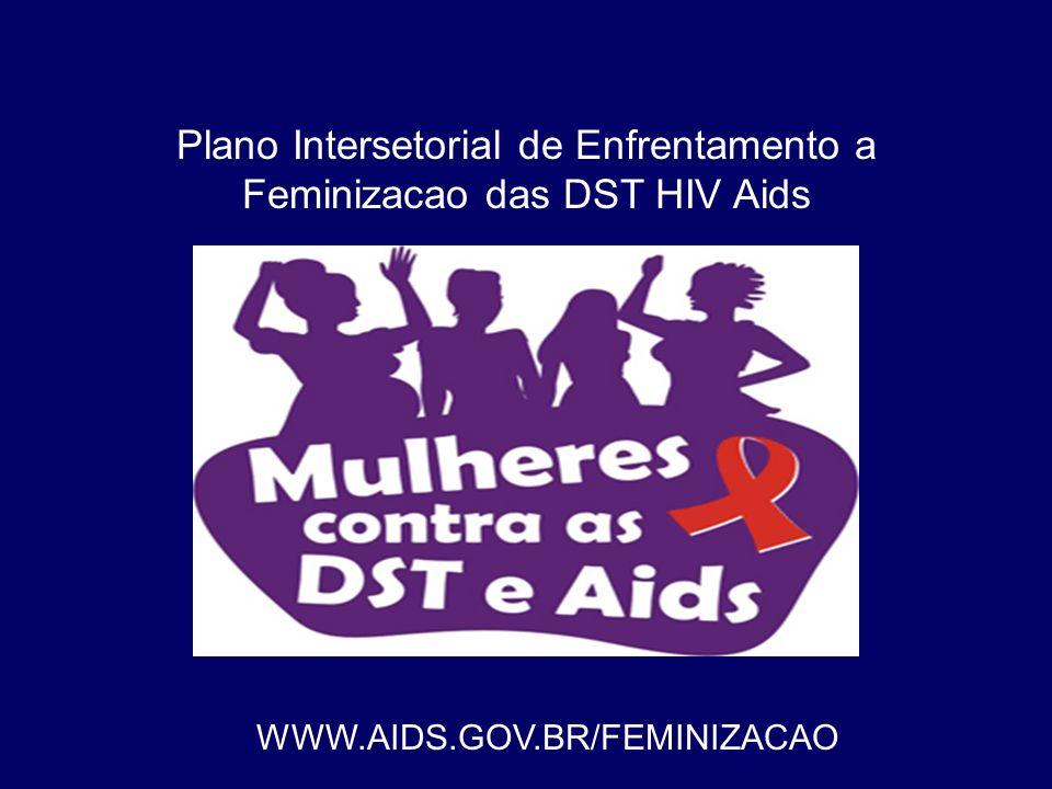 Plano Intersetorial de Enfrentamento a Feminizacao das DST HIV Aids WWW.AIDS.GOV.BR/FEMINIZACAO
