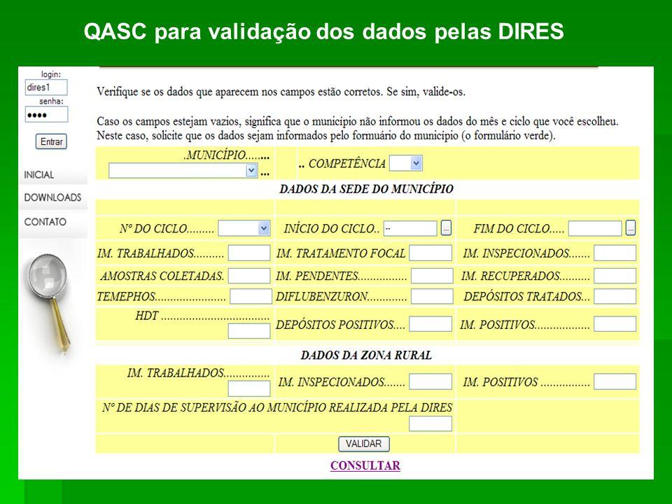 QASC para validação dos dados pelas DIRES