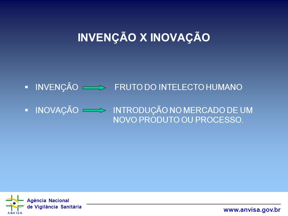Agência Nacional de Vigilância Sanitária www.anvisa.gov.br COOPI/ANVISA propriedade.intelectual@anvisa.gov.br