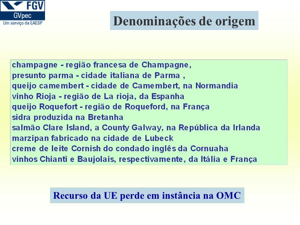 Denominações de origem Recurso da UE perde em instância na OMC