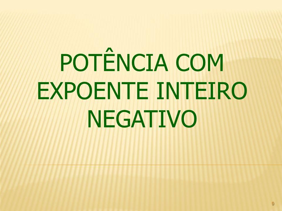 POTÊNCIA COM EXPOENTE INTEIRO NEGATIVO 9