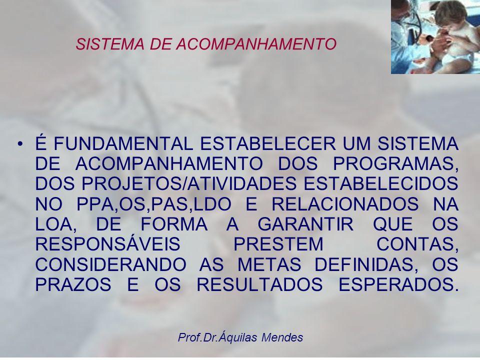 Prof.Dr.Áquilas Mendes 3 – MONITORAMENTO E AVALIAÇÃO: Transparência como eixo central para o Conselho Municipal de Sa ú de - Presta ç ão de Contas da
