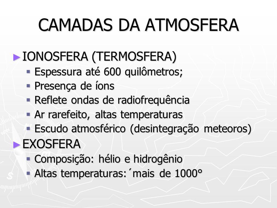 UMIDADE ATMOSFÉRICA VAPOR DÁGUA NA ATMOSFERA ORIUNDO DA EVAPOTRANSPIRAÇÃO VAPOR DÁGUA NA ATMOSFERA ORIUNDO DA EVAPOTRANSPIRAÇÃO INTENSIDADE DA RADIAÇÃO SOLAR INTENSIDADE DA RADIAÇÃO SOLAR EXTENSÃO DA SUPERFÍCIE EXTENSÃO DA SUPERFÍCIE ATUAÇÃO DOS VENTOS ATUAÇÃO DOS VENTOS UMIDADE ABSOLUTA E RELATIVA UMIDADE ABSOLUTA E RELATIVA ISOÍGRAS ISOÍGRAS