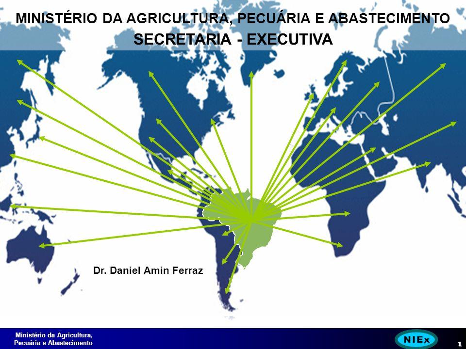 Ministério da Agricultura, Pecuária e Abastecimento 1 MINISTÉRIO DA AGRICULTURA, PECUÁRIA E ABASTECIMENTO SECRETARIA - EXECUTIVA Dr.