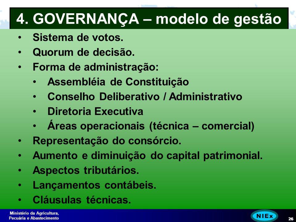 Ministério da Agricultura, Pecuária e Abastecimento 26 4.