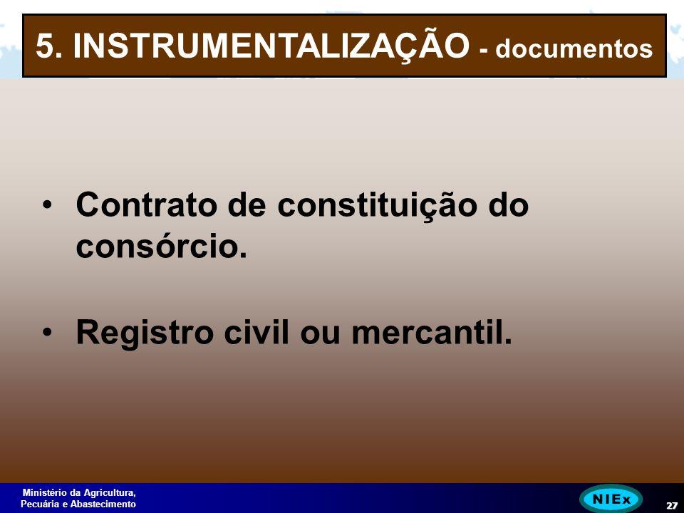 Ministério da Agricultura, Pecuária e Abastecimento 27 5.