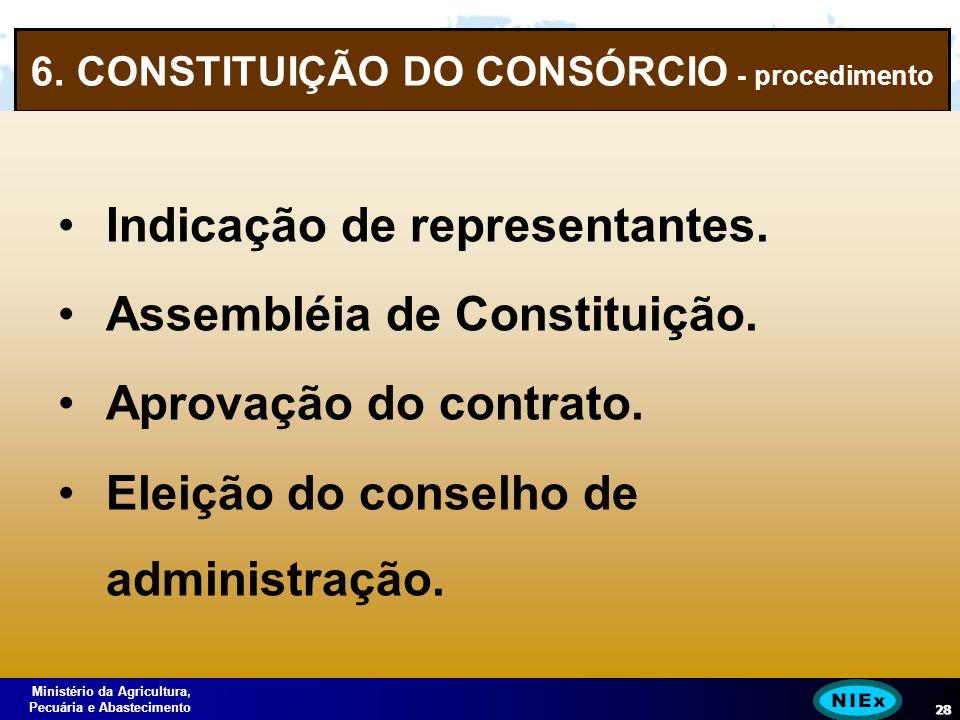 Ministério da Agricultura, Pecuária e Abastecimento 28 6.