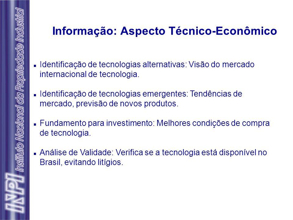 n Identificação de tecnologias alternativas: Visão do mercado internacional de tecnologia. n Identificação de tecnologias emergentes: Tendências de me