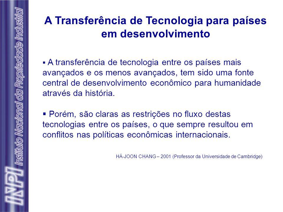 A transferência de tecnologia entre os países mais avançados e os menos avançados, tem sido uma fonte central de desenvolvimento econômico para humani
