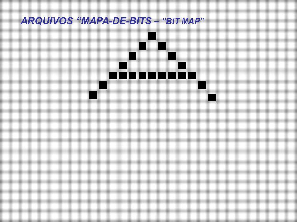 Arquivos em formato mapa de bits: como reconhecer um caracter? A a A a A a a a A ? ? ? ? ?