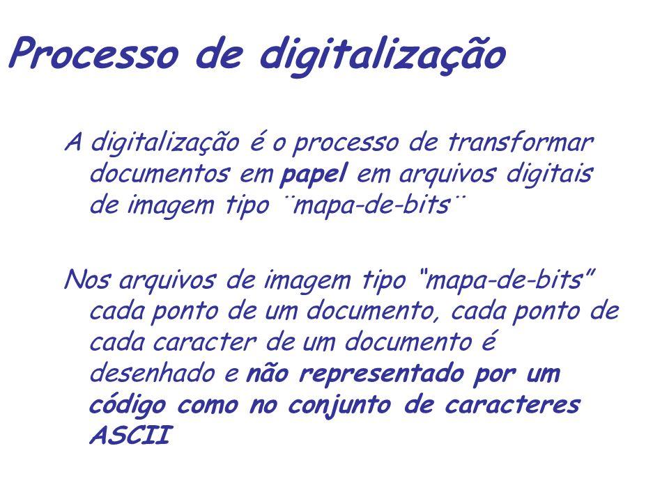 Digitalização – componentes de hardware escaner Gravador CD Jukebox Software de GED Estações p.