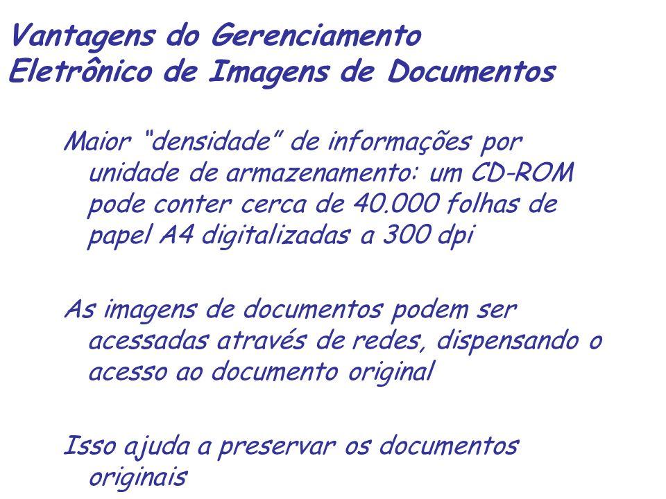 O escaner – características técnicas Fonte de luz Documento Sensor – matriz de fotocélulas (resolução de hardware)