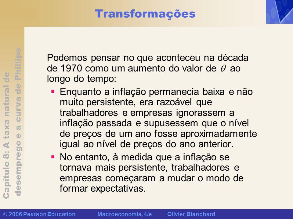 Capítulo 8: A taxa natural de desemprego e a curva de Phillips © 2006 Pearson Education Macroeconomia, 4/e Olivier Blanchard Transformações Podemos pe