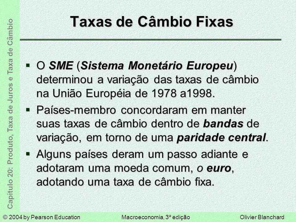 © 2004 by Pearson EducationMacroeconomia, 3ª ediçãoOlivier Blanchard Capítulo 20: Produto, Taxa de Juros e Taxa de Câmbio Taxas de Câmbio Fixas O SME