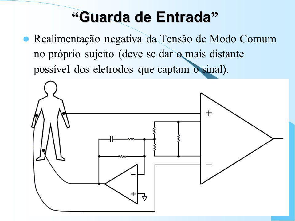 Minimiza ç ão de Ru í dos e Artefatos Uso de eletrodos não-polarizados, e com baixo potencial de meia-célula, como Ag/AgCl; Uso de cabos blindados; Mi