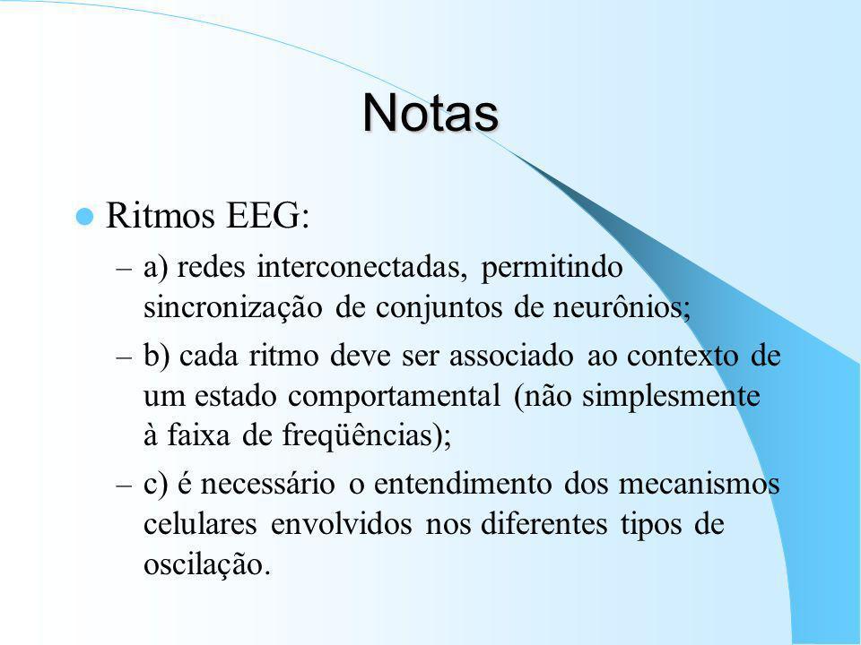 Figura ilustrando os principais ritmos do EEG