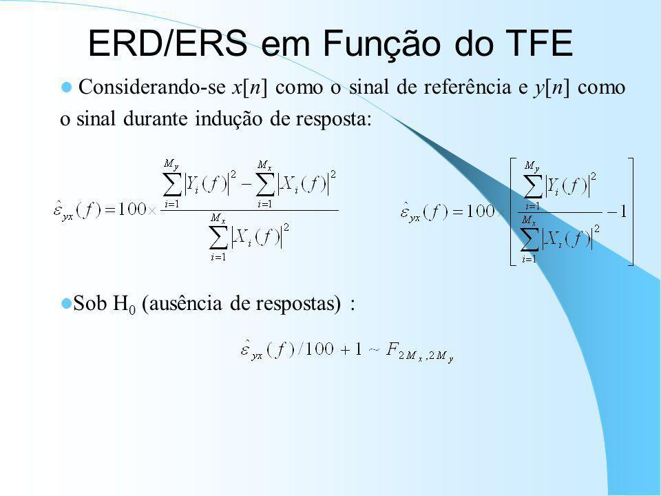 Detector de Potenciais Evocados (EPD) Inspira-se na MSC como ORD, mas refere-se ao domínio do tempo: Sob H 0 (ausência de respostas), EPD segue uma di