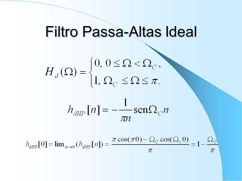 Filtro Passa-Baixas Ideal