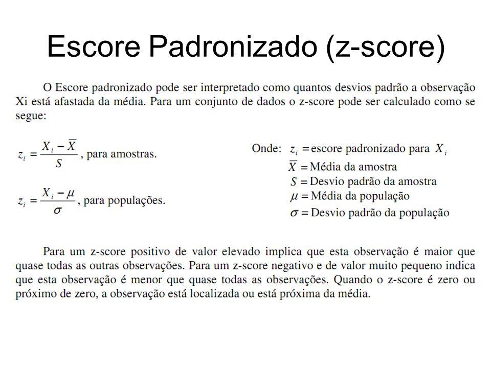 Escore Padronizado (z-score)