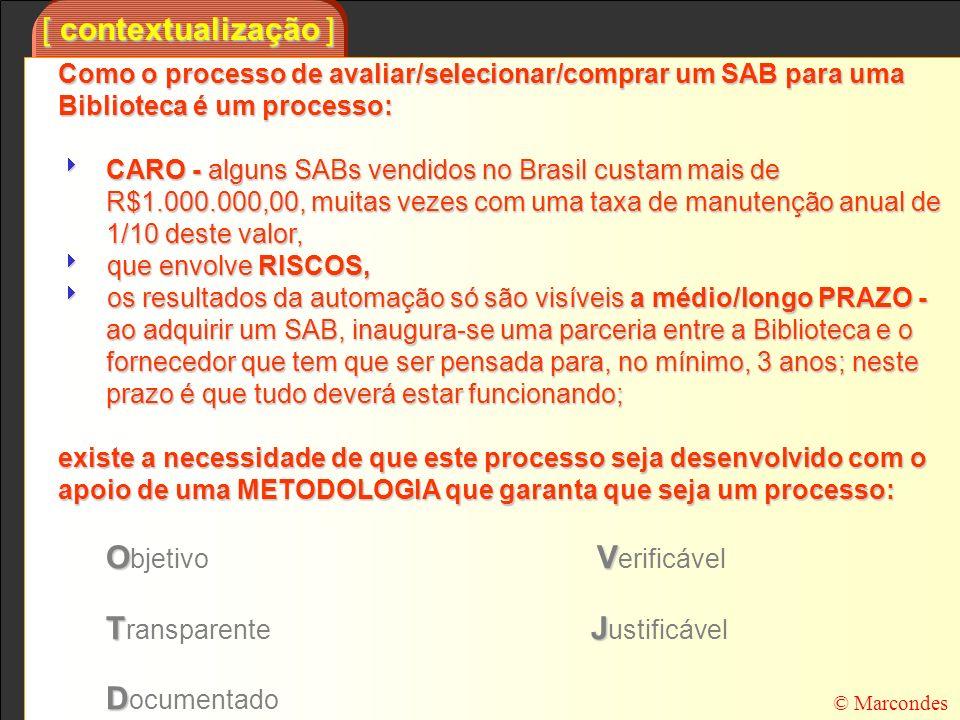 [ contextualização ] Como o processo de avaliar/selecionar/comprar um SAB para uma Biblioteca é um processo: CARO - alguns SABs vendidos no Brasil cus