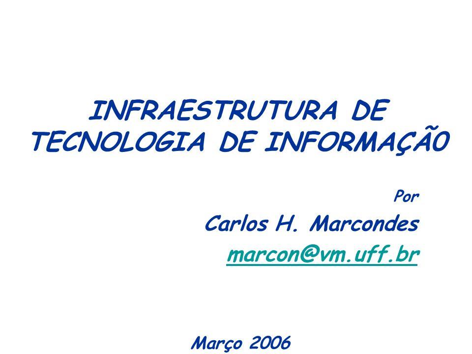 INFRAESTRUTURA DE TECNOLOGIA DE INFORMAÇÃ0 Por Carlos H. Marcondes marcon@vm.uff.br Março 2006
