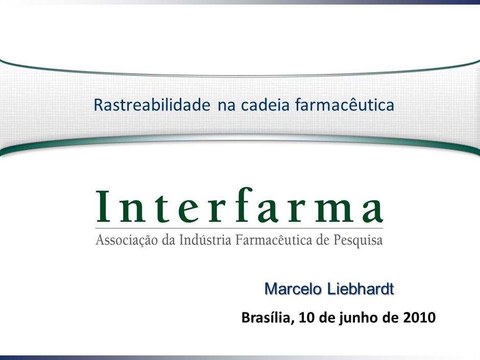 Brasília, 10 de junho de 2010 Rastreabilidade na cadeia farmacêutica Marcelo Liebhardt
