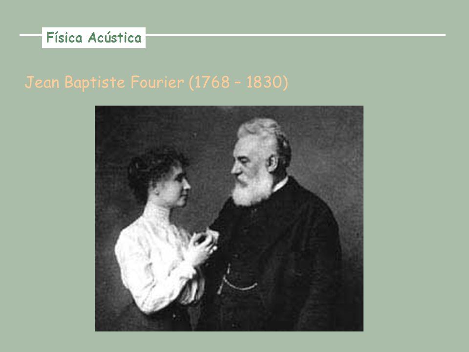 Jean Baptiste Fourier (1768 – 1830) Física Acústica