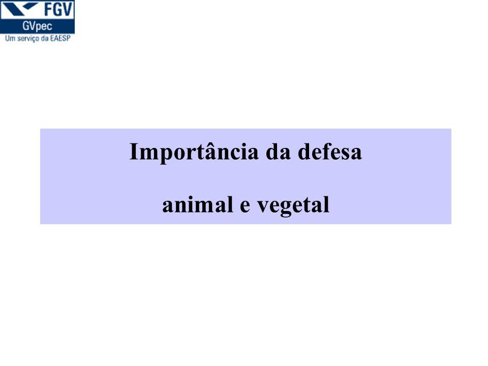 Importância da defesa animal e vegetal