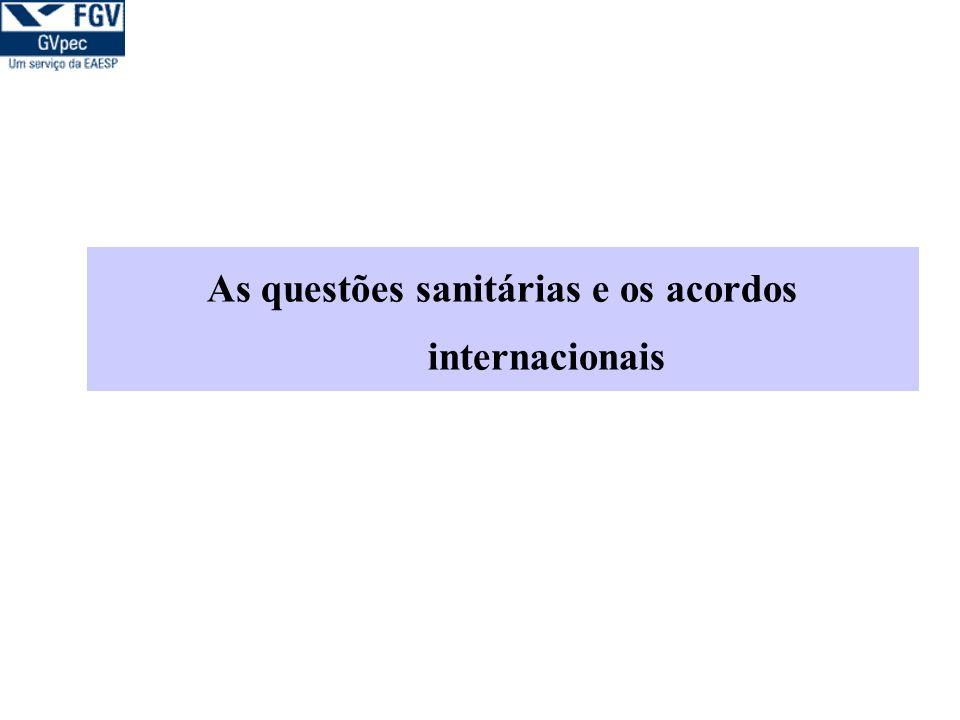 As questões sanitárias e os acordos internacionais