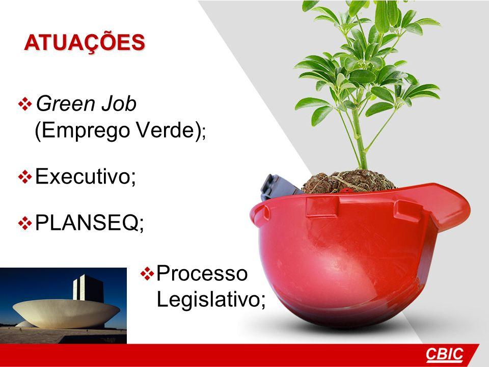Green Job (Emprego Verde) ; Executivo; PLANSEQ; Processo Legislativo; ATUAÇÕES