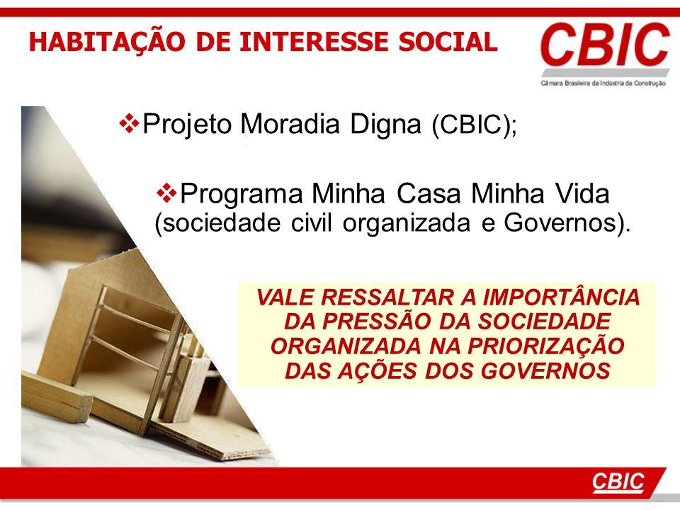 Programa Minha Casa Minha Vida (sociedade civil organizada e Governos).